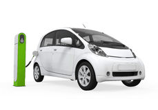 Electric Car in Charging Station Royalty Free Stock Photo