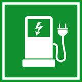 Electric car charging royalty free illustration