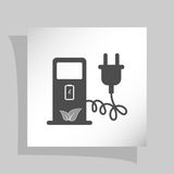 Electric car charging station sign icon Stock Images