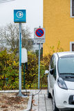 Electric car charging station to Royalty Free Stock Photography