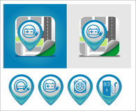 Electric car charging symbol Stock Photography