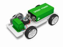 Electric car concept. Image with clipping paths royalty free illustration