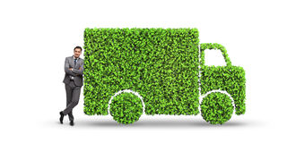 The electric car concept in green environment concept Royalty Free Stock Images