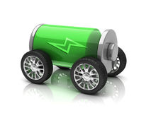Electric car 3d concept Stock Photos
