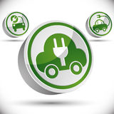 Electric car 3d vector icon. Royalty Free Stock Photo