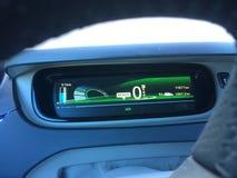 Electric car. Dashboard of electrical car Stock Photos