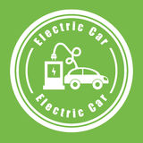 Electric car stock illustration