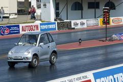 Electric car drag racing Stock Photography