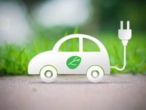 Electric car ecology concept Stock Image