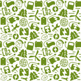 Electric car and ecology seamless pattern Stock Photography