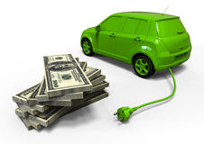 Electric car economy Stock Image