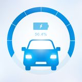 Electric car and Electrical charging station symbol icon. Vector illustration Stock Photo
