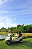 Electric car in the golf course, Andalusia, Spain Royalty Free Stock Photo