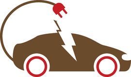 Electric car. Has been created as vector Stock Photography