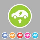 Electric car icon flat web sign symbol logo label Royalty Free Stock Photos