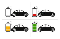 Electric Car Icons Royalty Free Stock Photography