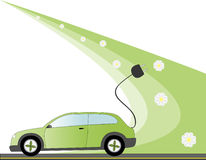 Electric Car illustration Royalty Free Stock Images