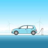 Electric Car Illustration Stock Image