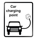 Electric Car Information Sign Royalty Free Stock Images