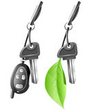 Electric Car Key Stock Photography