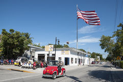 Electric car in Key West, Florida Stock Image