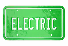 Electric Car License Plate Automotive Green Technology Royalty Free Stock Photography