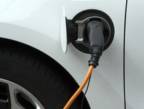 Electric car loading Royalty Free Stock Images