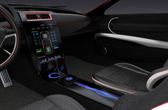 Electric car multimedia interface design concept. Stock Photography