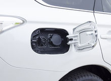 Electric car plug connection Royalty Free Stock Image
