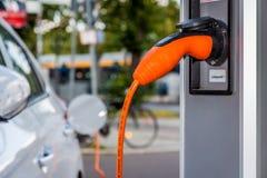 Free Electric Car Plug In Stock Image - 146281971