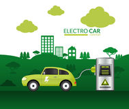 Electric Car Print Stock Photography