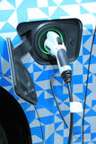 Electric car recharge Stock Images