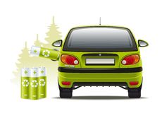 Electric car recharges Stock Photo