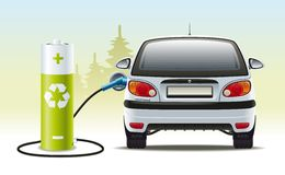 Electric car recharges Royalty Free Stock Images