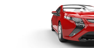 Electric Car Red - Side Cut View Royalty Free Stock Photos