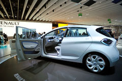 Electric car Renault Zoe concept Stock Photos