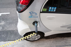Electric car service point Royalty Free Stock Photos