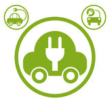 Electric car simple vector icon. Royalty Free Stock Photo