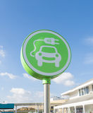 Electric car symbol Stock Images