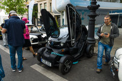 Electric car two-passenger electric vehicle Renault Twizy Z.E. Royalty Free Stock Photos