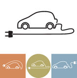 Electric car vector icon Royalty Free Stock Image