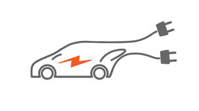 Electric car vector icon Royalty Free Stock Photography