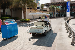 Electric car on the waterfront in Dubai Royalty Free Stock Image