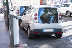 Electric cars charging royalty free stock photo