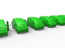 Electric cars charging station concept Stock Images
