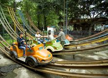 Fairground Attraction in Chengdu Park Stock Image