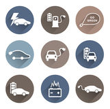 Electric cars icons vector Royalty Free Stock Photo
