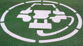 Electric cars parking Stock Image