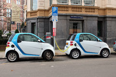 Electric Cars Royalty Free Stock Photography