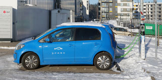 Electric cars Volkswagen Golf Royalty Free Stock Photography